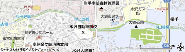 岩手県奥州市水沢真城(小山崎)周辺の地図