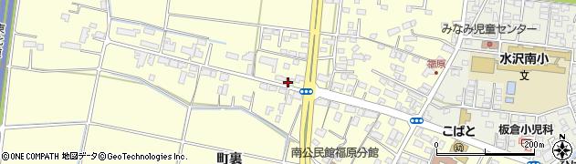 岩手県奥州市水沢(福原)周辺の地図