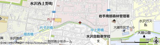 岩手県奥州市水沢(中上野)周辺の地図