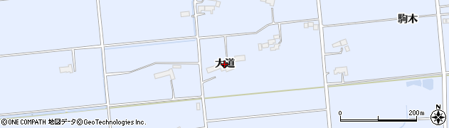岩手県奥州市胆沢南都田(大道)周辺の地図