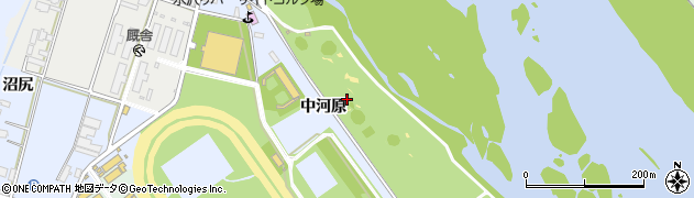 岩手県奥州市水沢真城(中河原)周辺の地図