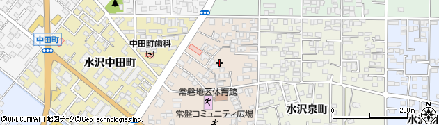 岩手県奥州市水沢台町周辺の地図
