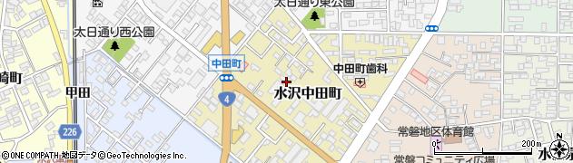 岩手県奥州市水沢中田町周辺の地図
