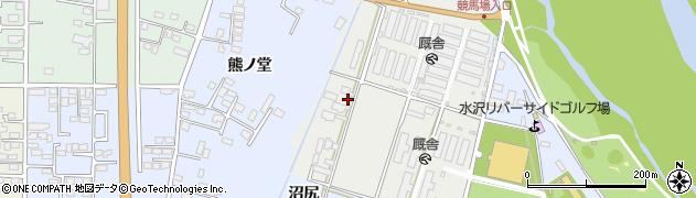 岩手県奥州市水沢佐倉河(下谷起)周辺の地図