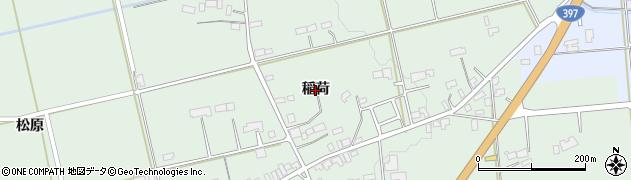 岩手県奥州市胆沢若柳(稲荷)周辺の地図