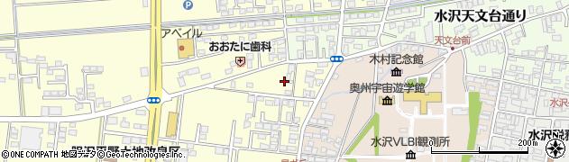 岩手県奥州市水沢(北田)周辺の地図