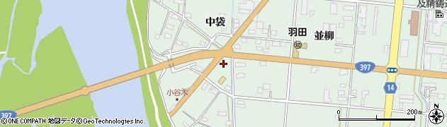 岩手県奥州市水沢羽田町(中袋)周辺の地図