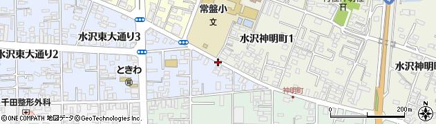 岩手県奥州市水沢真城(原中)周辺の地図