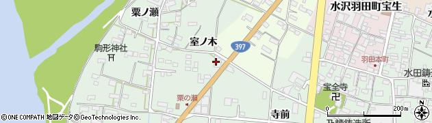岩手県奥州市水沢羽田町(室ノ木)周辺の地図