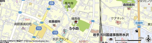 増長寺周辺の地図