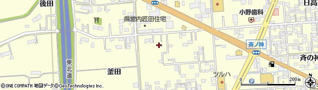 岩手県奥州市水沢(釜田)周辺の地図