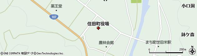 岩手県気仙郡住田町周辺の地図