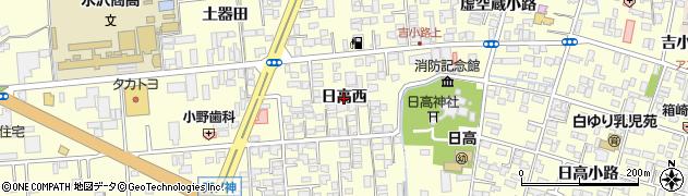 岩手県奥州市水沢(日高西)周辺の地図