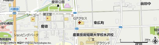 岩手県奥州市水沢佐倉河(東広町)周辺の地図