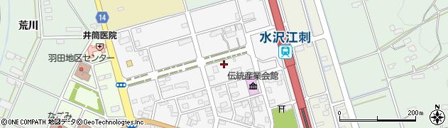 岩手県奥州市水沢羽田町駅前周辺の地図