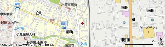 岩手県奥州市水沢(柳町)周辺の地図