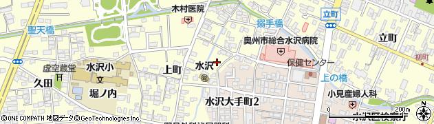 岩手県奥州市水沢(搦手丁)周辺の地図