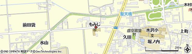 岩手県奥州市水沢(水山)周辺の地図