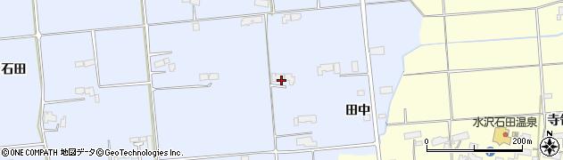 岩手県奥州市胆沢南都田(田中)周辺の地図
