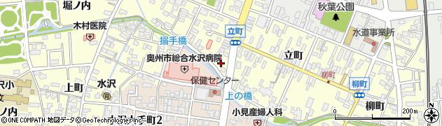 岩手県奥州市水沢(川原小路)周辺の地図