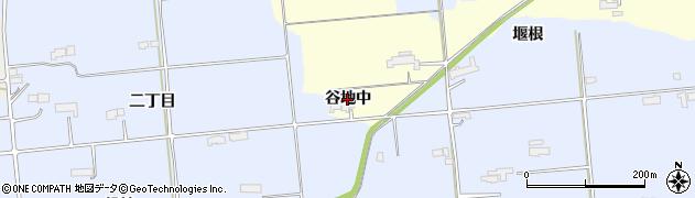 岩手県奥州市水沢(谷地中)周辺の地図