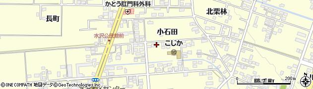 岩手県奥州市水沢(小石田)周辺の地図