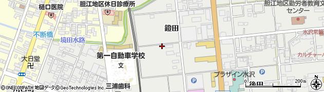 岩手県奥州市水沢佐倉河(鐙田)周辺の地図