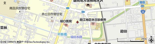 岩手県奥州市水沢(多賀)周辺の地図