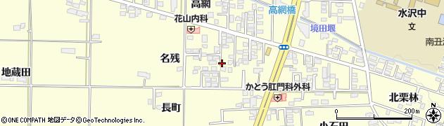 岩手県奥州市水沢(名残)周辺の地図