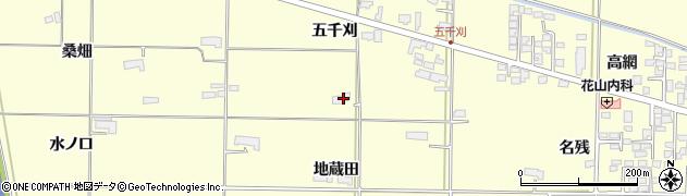 岩手県奥州市水沢(地蔵田)周辺の地図