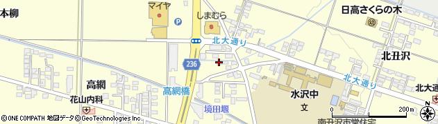 岩手県奥州市水沢(八反町)周辺の地図