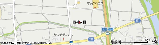 岩手県奥州市水沢佐倉河(西袖ノ目)周辺の地図