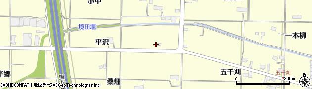 岩手県奥州市水沢(平沢)周辺の地図