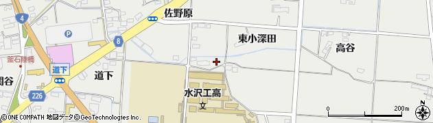 岩手県奥州市水沢佐倉河周辺の地図