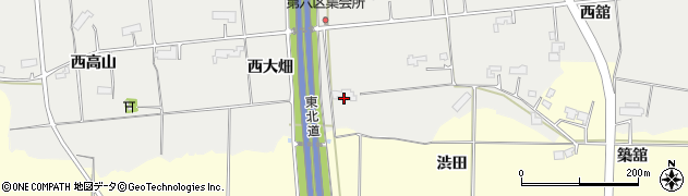 岩手県奥州市水沢佐倉河(西大畑)周辺の地図