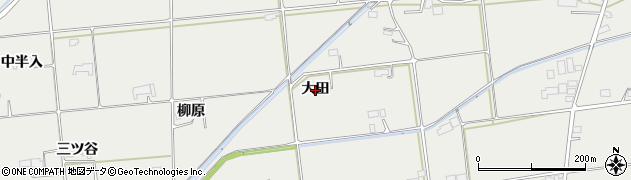 岩手県奥州市水沢佐倉河(大田)周辺の地図