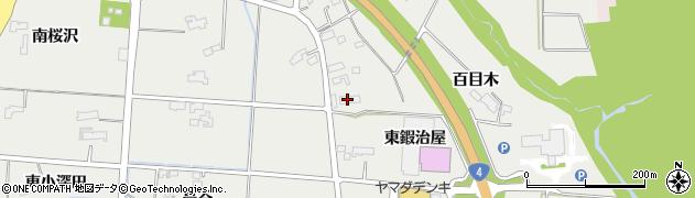 岩手県奥州市水沢佐倉河(東鍜治屋)周辺の地図