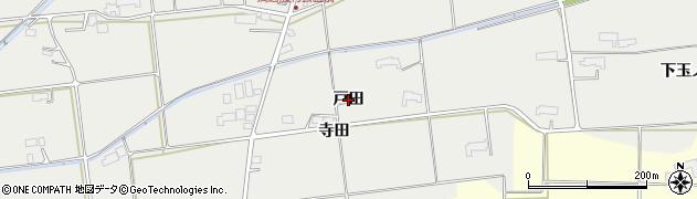 岩手県奥州市水沢佐倉河(戸田)周辺の地図