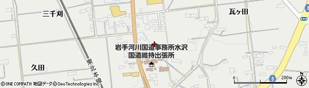 岩手県奥州市水沢佐倉河(車堂)周辺の地図