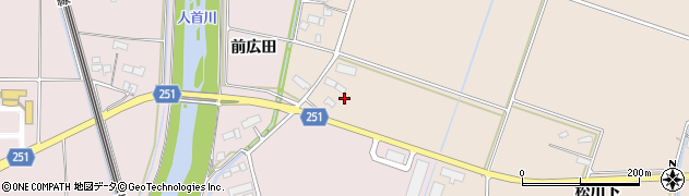 岩手県奥州市江刺田原(西前田)周辺の地図