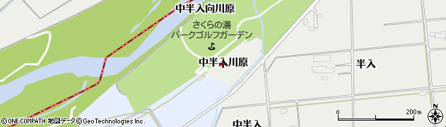 岩手県奥州市水沢佐倉河(中半入川原)周辺の地図