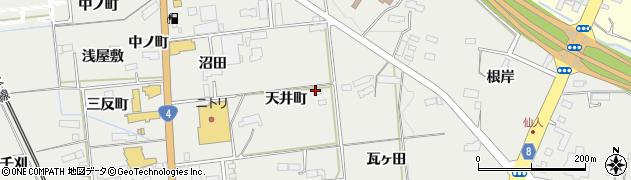 岩手県奥州市水沢佐倉河(天井町)周辺の地図