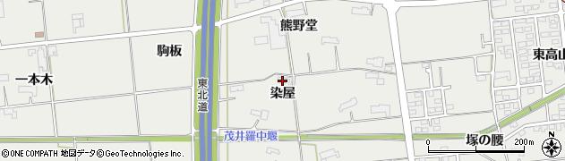 岩手県奥州市水沢佐倉河(染屋)周辺の地図