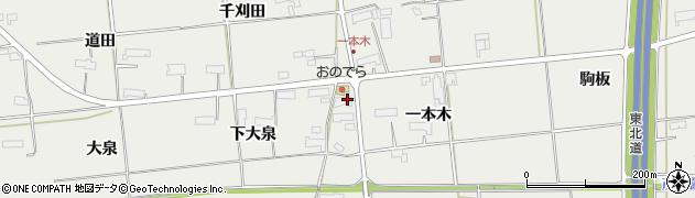 岩手県奥州市水沢佐倉河(一本木)周辺の地図