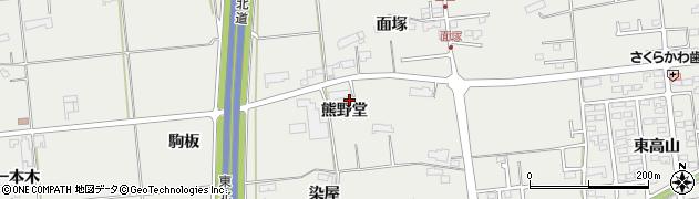 岩手県奥州市水沢佐倉河(熊野堂)周辺の地図