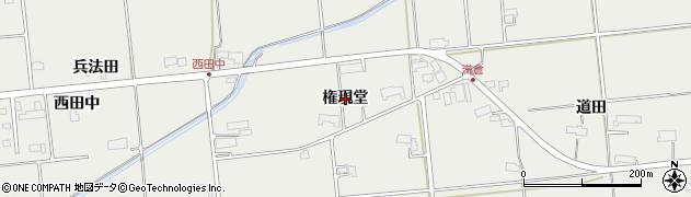 岩手県奥州市水沢佐倉河(権現堂)周辺の地図