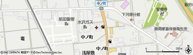 岩手県奥州市水沢佐倉河(中ノ町)周辺の地図