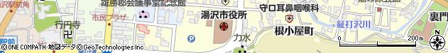 秋田県湯沢市周辺の地図
