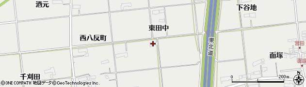 岩手県奥州市水沢佐倉河(東田中)周辺の地図
