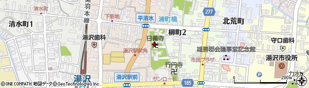 日善寺周辺の地図